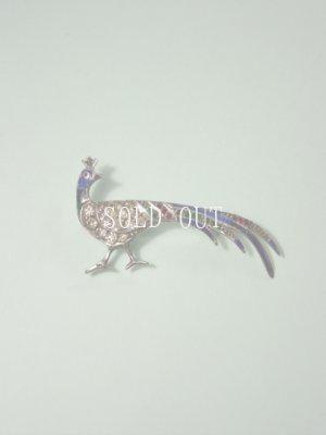 画像1: アンティークアクセサリー 孔雀のブローチ 1920〜1940s