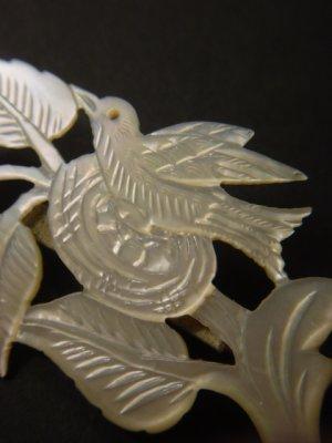 画像3: アンティークアクセサリー 真珠貝の鳥のブローチ 1900s〜1930s