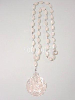 画像1: アンティークアクセサリー 真珠貝のペンダント 1930〜1950s
