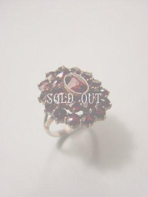 画像1: ガーネットの指輪 11号 1900〜1930s