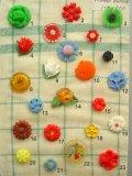 花のモチーフのボタン