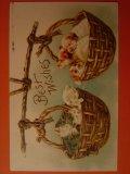 子ネコと子犬のポストカード 1910年