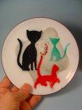 猫のホーローの皿 1950s